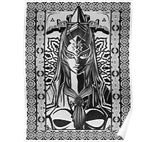 Legend of Zelda Midna Twilight Princess Geek Line Artly  Poster