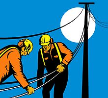 Power Lineman Telephone Repairman Electrician by patrimonio