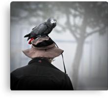 I always wear a bird on my head Metal Print