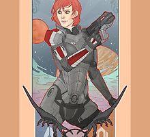 Commander Shepard by Vaahlkult