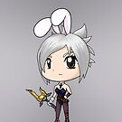 Chibi Battle Bunny Riven by RubyTruffles