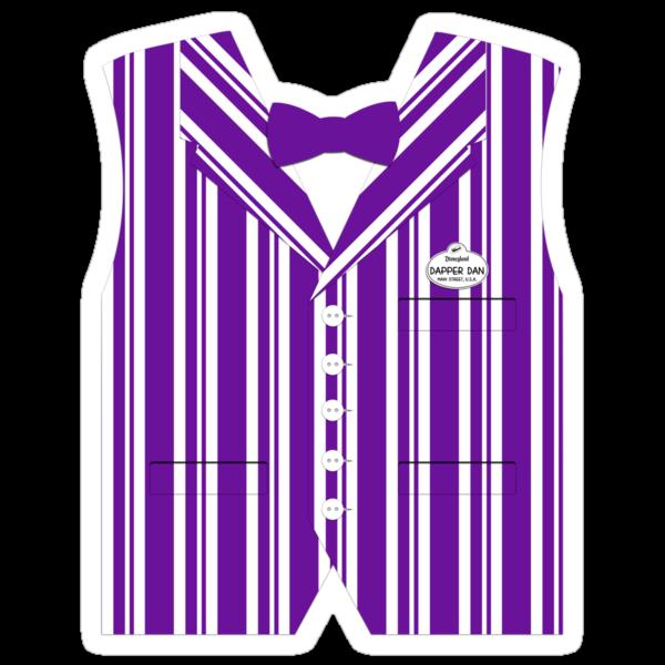 Dapper Dans Vest - Purple by jdotcole