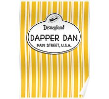 Dapper Dans Nametag - Orange Poster