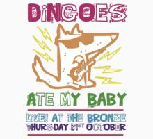 Dingoes Ate My Baby | Buffy The Vampire Slayer Band T-shirt [Neon] by Jessica Morgan