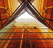 Abstract image of office windows by kawing921
