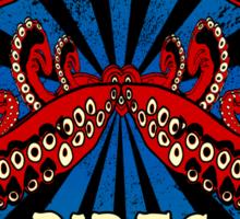 Tentacle Rides Poster Art Sticker
