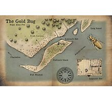 Poe - The Gold Bug - Map Photographic Print