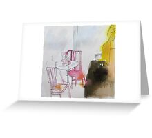 NY pink chairs Greeting Card