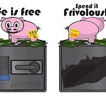The Frivolous Life - Piggy Bank limited. by Brandon Holsey