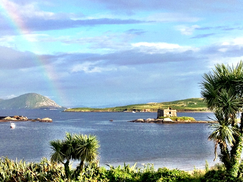 Rainbow at Ballinskellig's co kerry by timbuckley
