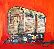 bauwagen/constuction trailer by frank lennartz