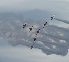 Red Arrows Display Team by Giorgio Elesaro
