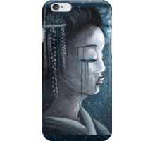 Geisha in Snow: The Stoic Concubine iPhone Case/Skin