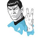 Star Trek Spock obscene hand gesture by Creative Spectator