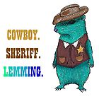 Cowboy Sheriff Lemming by samkat