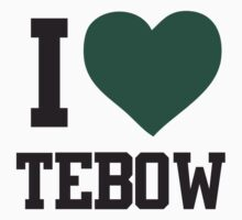 I heart Tebow Women's Shirt by TebowFan