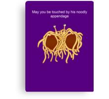 His noodly appendage Canvas Print