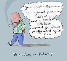 hemingway on holiday by Loui  Jover