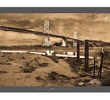 BAY BRIDGE 1945, SAN FRANCISCO Photographic Print