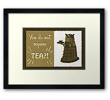 Dalek Tea Time Framed Print