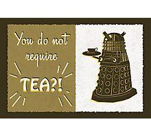 Dalek Tea Time Photographic Print