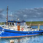fishingboat in blue by Nicole W.