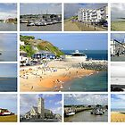 Isle of Wight Collage 01 - Plain  by Rod Johnson