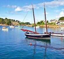 Harbour, at the Cote de Granit Rose  by 7horses