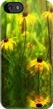 Forest Edge Florals iphone case by Elaine  Manley