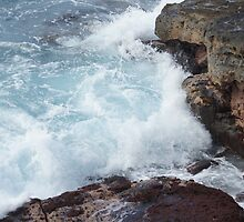 Waves, Apua Point,  Hawaii Volcanoes National Park by Loisb