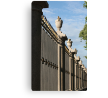 palace fence Canvas Print