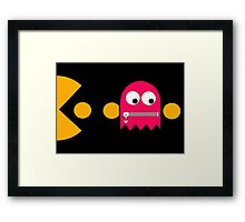 Pacman - The Ghosts - Pinky Framed Print