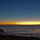 Moon and venus just before sunrise by Odille Esmonde-Morgan