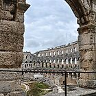 The Arena ( Colosseum) In Pula Croatia by lynn carter