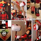Harley Quinn details by deviantdolls