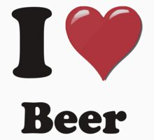 I Heart / Love Beer by HighDesign