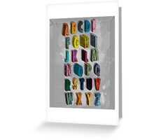 alphabet city Greeting Card