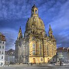 Dresden,  town square, monument by fine-art-prints