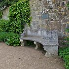 Old Stone Seat against Wall by Sue Robinson