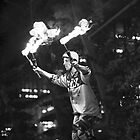 Unicycle-Riding Fire Juggler by f13 Gallery
