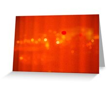 Red Hot Night Lights Greeting Card