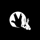 Rabbit Trek Hand Shadow iPhone Case - blk by mobii