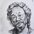 Portrait of David Suzuki by andrea v