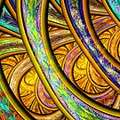Golden Stained Glass and Brocade by wolfepaw