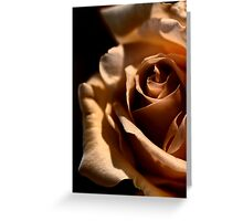 Morning coffee, with Rose Greeting Card