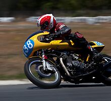 Honda Twin Racing Bike by Alan  McIntosh