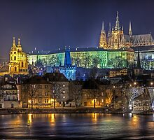 Golden Prague by fine-art-prints