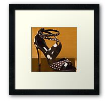 Polka Dot Heels Framed Print