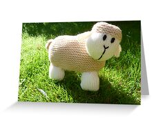 Hand Knitted toy Sheep Greeting Card