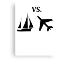 boat vs plane  Canvas Print